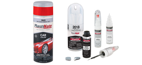 Automotive touch up paint products plastikote for How to do touch up paint on car