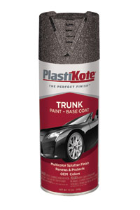 Bed Liner Spray Paint >> Trunk Paint Base Coat:Specialty | PlastiKote Paint Products